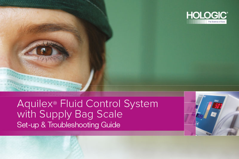 Set-Up Guide – Aquilex Fluid Control System with Supply Bag Scale